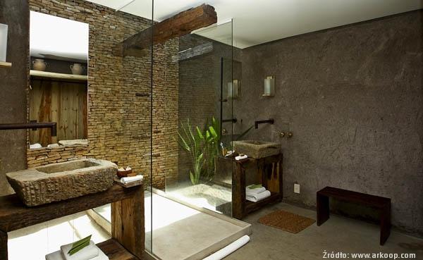 Łazienka wstylu ekologicznym