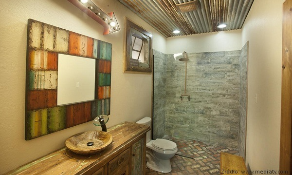 Aranżacja łazienki W Stylu Rustykalnym
