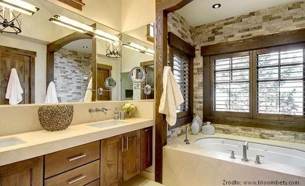 Aranżacja łazienki W Stylu Rustykalnym Meble Zdjęcia