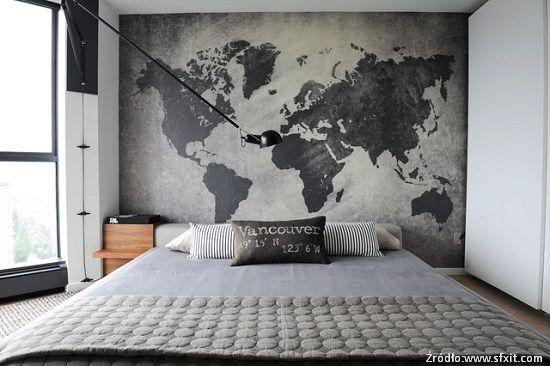 aranżacja ściany za łóżkiem