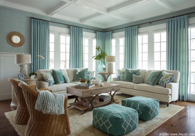 Nadmorski luksus czyli wn trza w stylu hampton meble - Living room furniture long island ...
