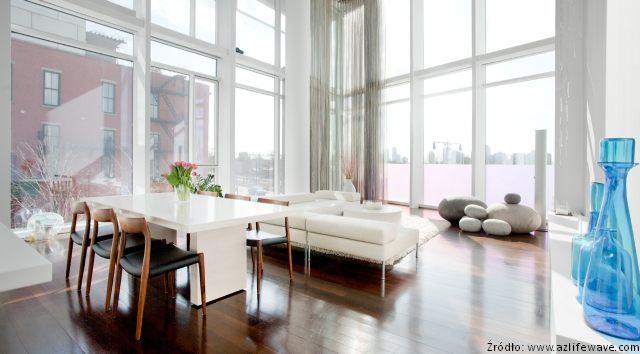 Salon w stylu skandynawskim - Meble - zdjęcia, projekty - wnętrza ...