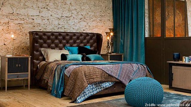 Sypialnia wstylu glamour