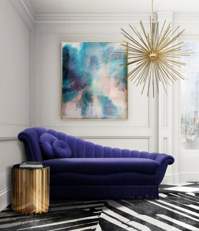 Kolor roku 2018 - fioletowa sofa