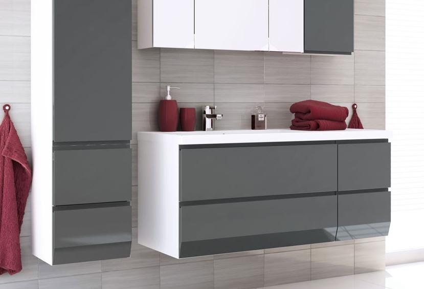 Szafki łazienkowe z umywalkami