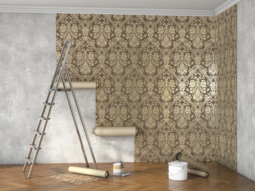 Czyszczenie tapety i fototapety na ścianie
